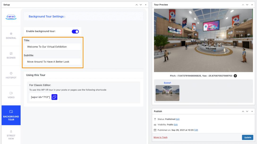 Background Virtual Tour - 360 Panorama