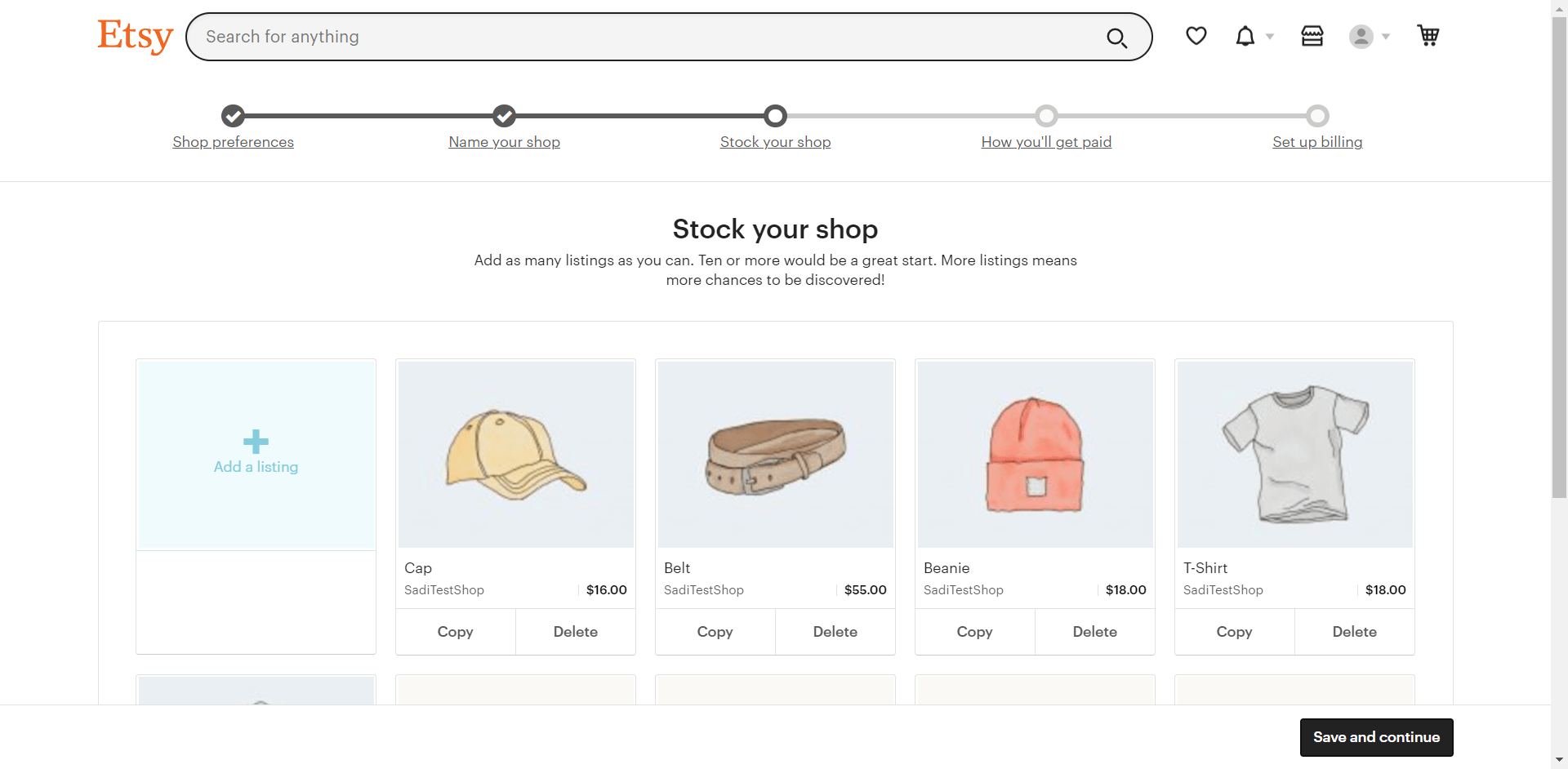 Products Are Uploading On Etsy