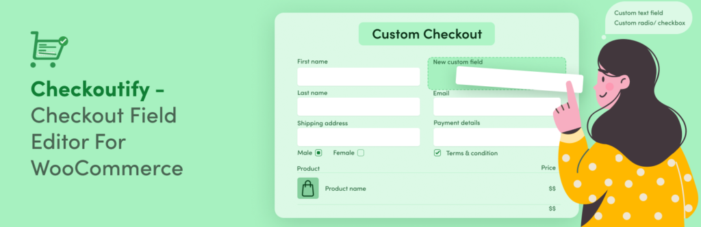 Checkoutify - Checkout Field Editor for WooCommerce